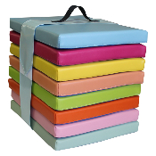 LOT DE 8 COUSSINS COLORIS TENDRES