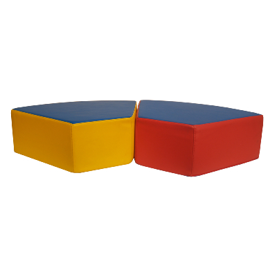 POUF SEMI HEXAGONAL